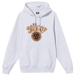 Stussy City Seal Embroidered Hoodie Light Grеy