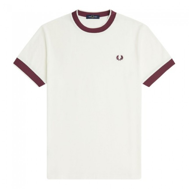 Fred Perry Crepe Jersey T-Shirt Snow White