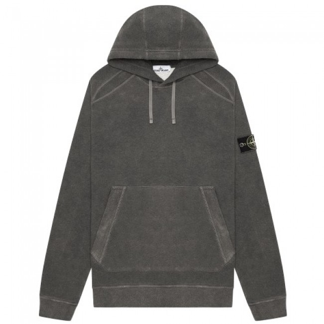 Stone Island Dust Colour Treatment Hoodie Anthracite