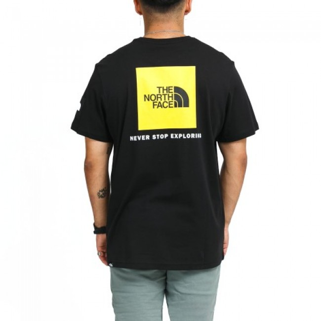 The North Face Box NSE Tee Black/Yellow