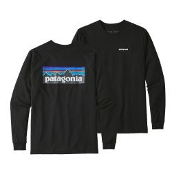 Patagonia L/S P-6 Logo Responsibili-Tee Black