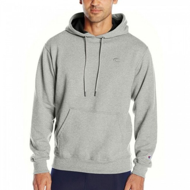 Champion Powerblend Pullover Hoodie Oxford Gray
