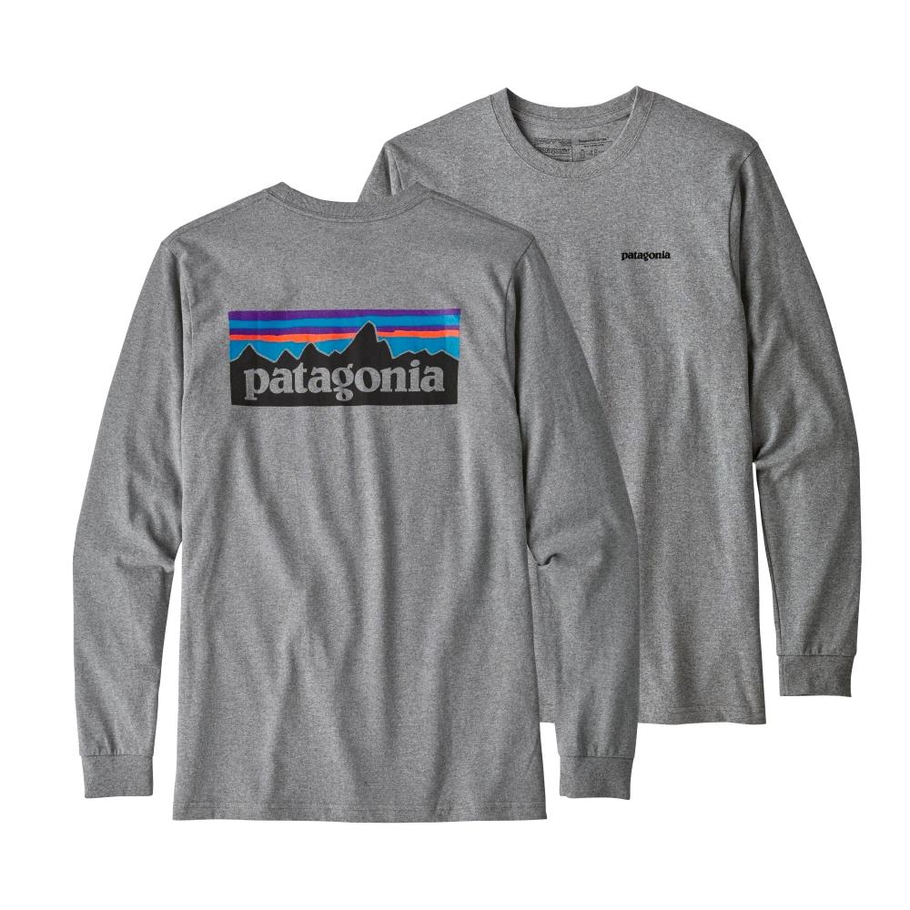 Patagonia L/S P-6 Logo Responsibili-Tee Grey