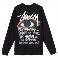 Stussy Ocular Ls Tee Black
