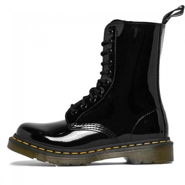 Dr. Martens 1490 Patent Leather Mid Calf Boots