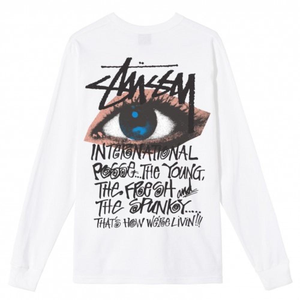 Stussy Ocular Ls Tee White