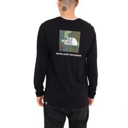 The North Face Red Box LongSleeve Black/Camo